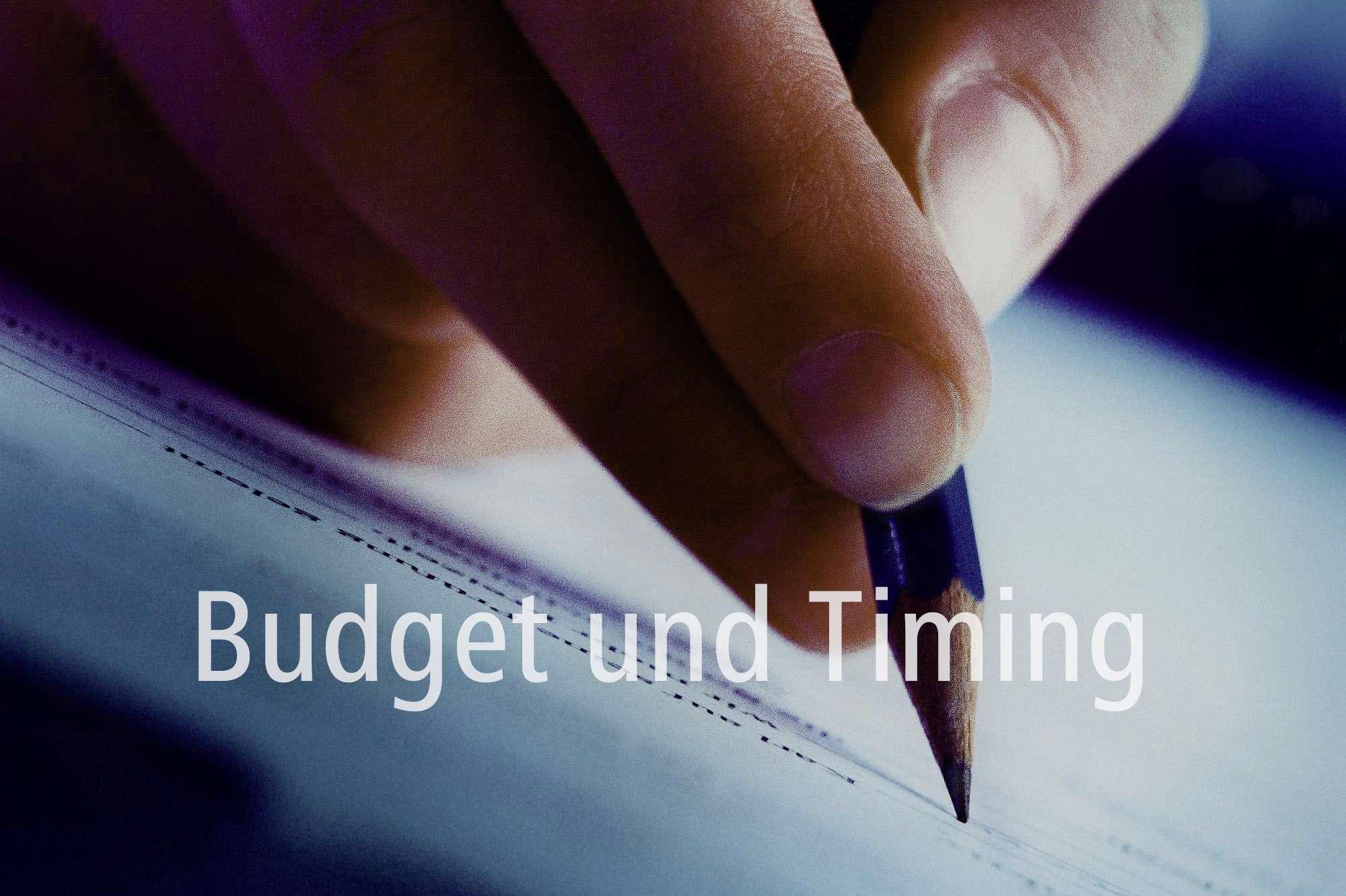 Budget und Timing